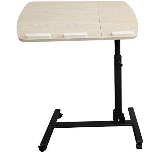 KISlink Stehpult Holz verstellbar tragbarer Laptop-Ständer Schreibtisch Schreibtisch mit Mauspad höhenverstellbar 360 \u0026 deg; Feststellrollen (Farbe: milchig weiß)