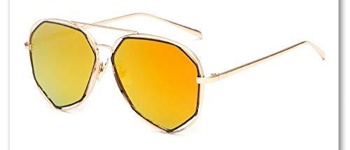 Sonnenbrille,Neue Big Frame Brille Männer Frauen Sonnenbrille Vintage Goggles Sommer Style Designer Sonnenbrille Gold Rahmen Orange Gelb