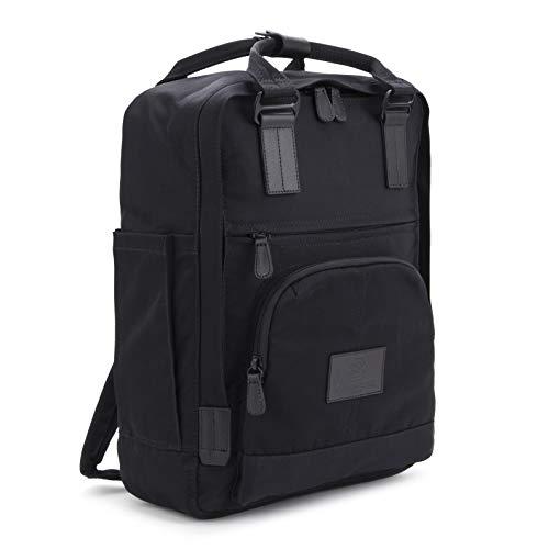 """Seventeen london – zaino 'hackney' moderno, semplice e unisex con una finitura nera nello stile di uno zainetto scandinavo – perfetto per un laptop da massimo 13"""""""