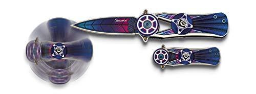 Albainox - 18275 - Navaja ALBAINOX Spinner Azul. Hoja: