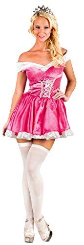 Fancy Ole Damen Frauen Kostüm Prinzessin Minikleid, S/M, Pink