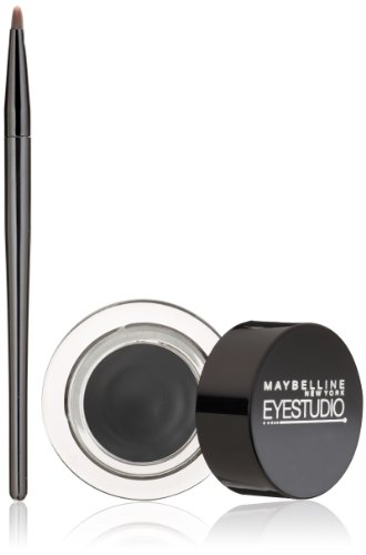 Maybelline New York Eye Studio Lasting Drama Gel Eyeliner, Blackest Black, 3g
