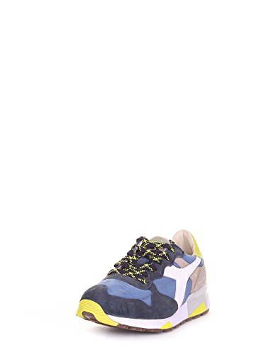 Diadora Heritage, Uomo, Trident 90 C SW Olive, Pelle/Canvas, Sneakers, Verde Blu