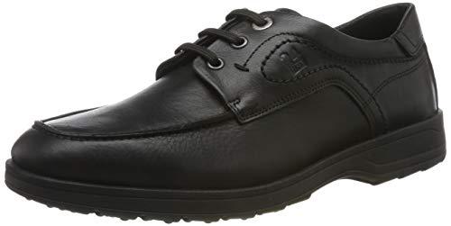 24 HORAS 10679, Zapatos de Cordones Brogue para Hombre, Negro 7, 39 EU