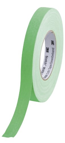 Scotch 9545N NGR Gewebeband, 1 Rolle, 19 mm x 50 m, neon grün