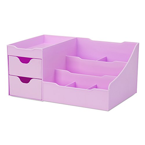 Uncluttered Designs Make-up Organizer Mit Schubladen (2 Schublade, Violett) -