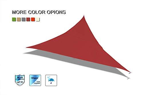 Laxllent Voiles d'Ombrage Anti UV Toile Solaire Voile Triangulaire Tissu imperméable à l'eau en Polyester pour...