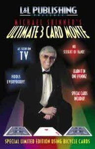 Michael Skinner's Ultimate 3 Karten Monte Zaubertrick - Rot Schwarz -