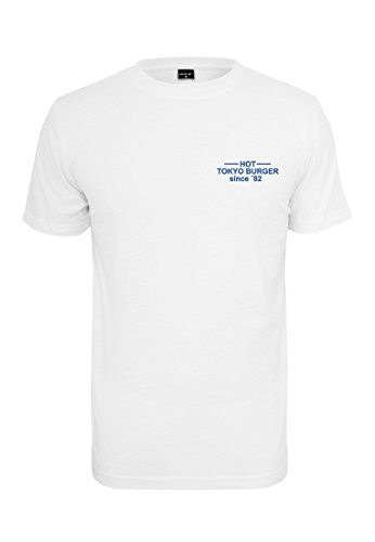 Mister Tee Herren Tokyo Burger Tee T-Shirt, White, M