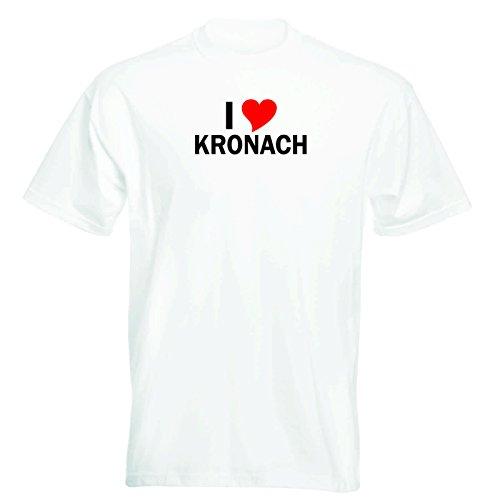 T-Shirt mit Städtenamen - i Love Kronach - Herren - unisex Weiß