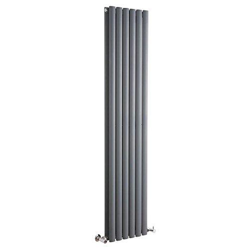 Milano Hudson Reed Vitality - Radiateur Design Vertical - Anthracite - 160 x 35,4cm Double Rang