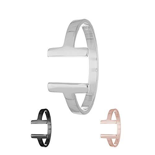 Treuheld Ring - 925 Silber - T-Form [04.] - Silber 52