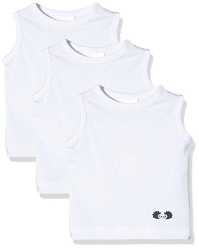 Twins Unisex Baby Unterhemd, 3er Pack , Weiß (Weiss 4013), 68