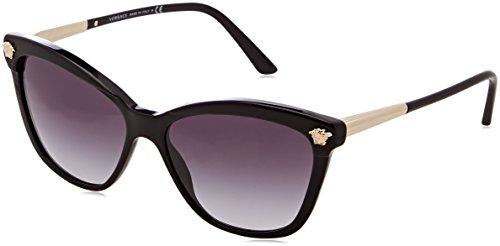Versace 0ve4313 gb1/8g 57 occhiali da sole donna, nero (black/gradient),