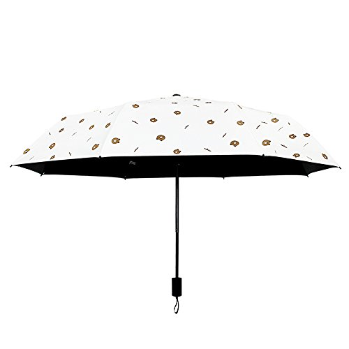 Shirleyle Tragbarer Sonnenschutz, Regenschirm, Sonnenschirm für Damen, Damen, UV-Schutz, faltbar, windfest, Reise-Regenschirm