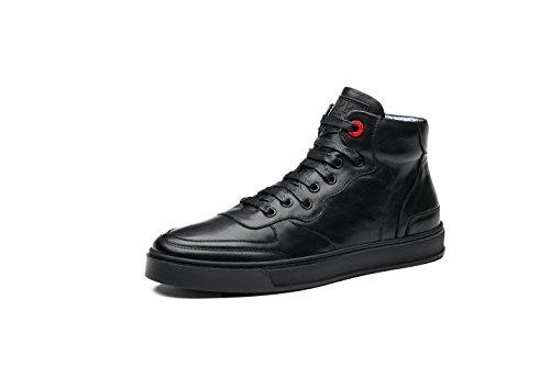 OPP Hommes Mode Chaussures de Ville Side Zip Hautes Noir
