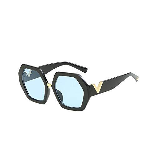 Sport-Sonnenbrillen, Vintage Sonnenbrillen, Fashion Polygonal Sunglasses Women NEW Luxury Brand Sun Glasses Personality Ladies Eyewears UV400 Goggles V-Leg Glasses 2