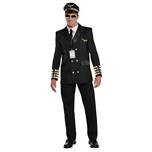 Amscan Dress Up 844183-55 Captain Wingman Kostüm, Größe L, unsolide, Farbe Herren: ()