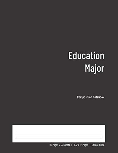 Zoom IMG-2 education major composition notebook college