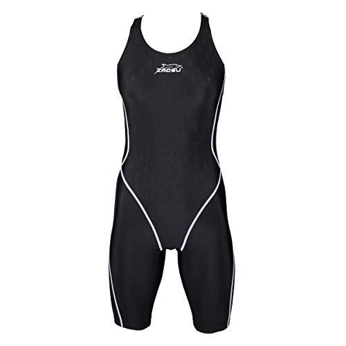 ZAOSU Damen & Mädchen Wettkampf Schwimmanzug Z-Zone | Sport Badenazug mit Bein, Größe:140
