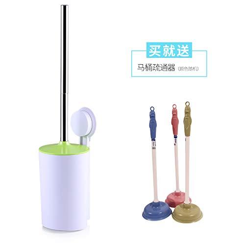 WANDOM Waschen Sie die Toilettenbürste Toiletten Kit Kreative Schlags-Free Lang Griff Nischen Keine Reinigungsbürste Toilettenbürste Artifact Wand befestigter Extension (Grün) Y13-DJ3642108292 - Flex Extension Kit