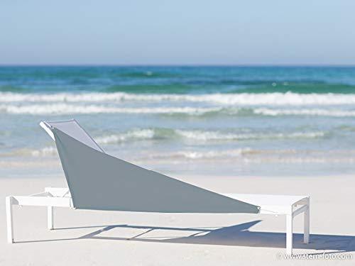 WINDBLOCK Premium – mobiler Windschutz für den Strand – Sichtschutz für mehr Privatsphäre Schutz vor Sand – Taupe