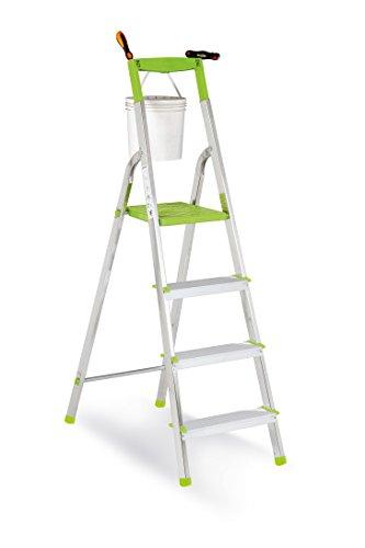 Casabriko - Escalera doméstica de Aluminio, Verde, Verde, 11035