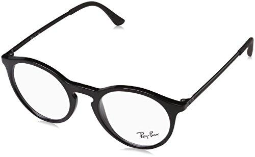 Ray-Ban Herren Brillengestell 0rx 7132 2000 50, Schwarz (Shiny Black)
