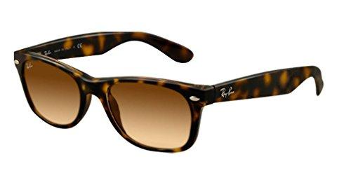 Ray Ban Unisex Sonnenbrille New Wayfarer, Gr. Large (Herstellergröße: 55), Braun (havana 710/51)
