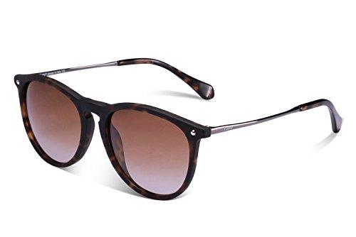 Gafas de Sol Polarizadas, Carfia UV400 Gafas de Sol Polarizadas Metal de Moda para Conducción Pesca Esquiar Golf Aire Libre para Mujer y Hombre Unisex (E)