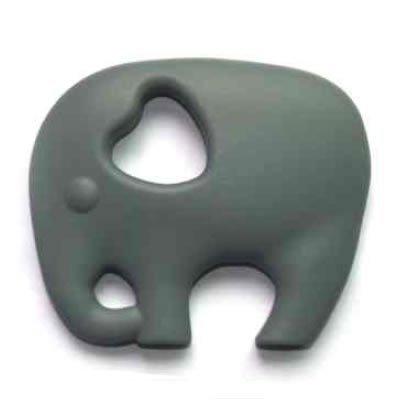 Preisvergleich Produktbild Silikon Beißring - Elefant - Verfügbar in verschiedene farben - Elefant Grau
