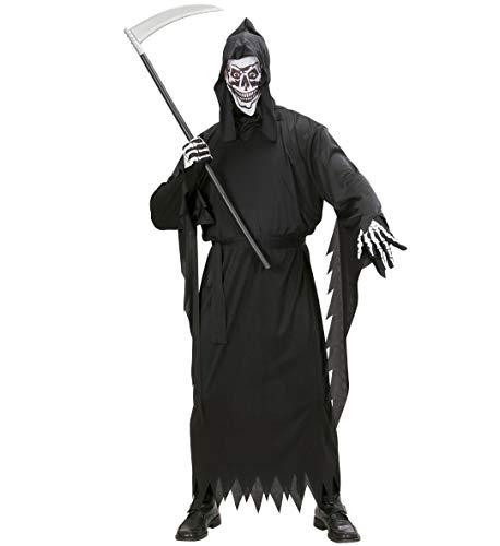 GYD Grim Reaper-Kostüm Sensenmann für Frauen und Herren SENSEMANN (Tunika, Gürtel, Maskemit Kapuze) Größe M