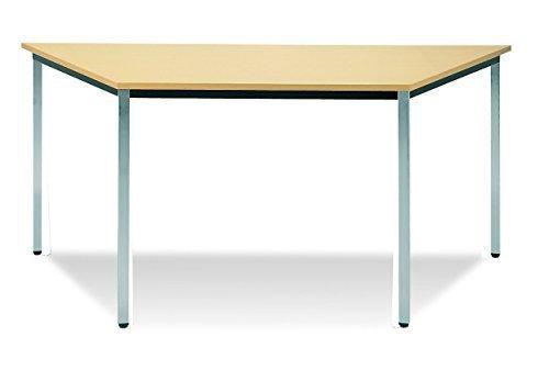 160 x 80 x 80 cm Konferenztisch Konferenz buche Besprechungszimmer Meeting Tisch trapezförmig