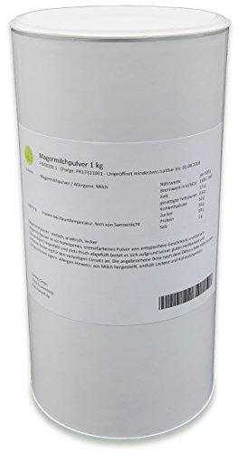 Magermilchpulver 1 kg Trockenmilch ideal für Joghurt standardisiert schonende Trocknung