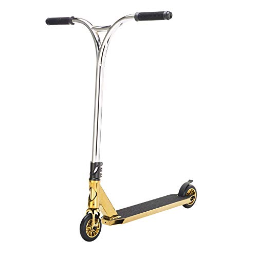 Outrage Pro Stunt-Scooter 2018 Sabre Custom Gold Chrome Trick Alter über 11 Jahre + Stunt-Pegs