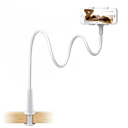 Enllonish Support de Tablette et Smartphone Pliable, Support réglable en col-de-Cygne Stand avec Bras Extensible pour téléphone (Holder for Phone)