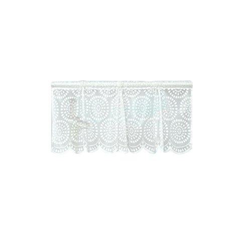 WINOMO Fenster Kurze Vorhänge Dekorative Sun Proof Shade Bildschirm Purdah Kurze Vorhang Valance für Küche Balkon Home (Weiß Punkt)
