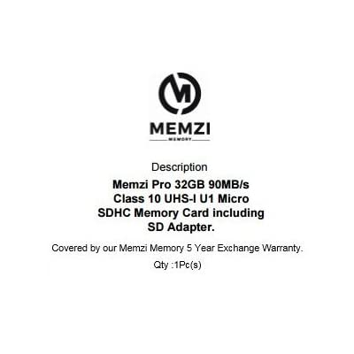 MEMZI PRO 32GB Class 90MB Micro SDHC Memory Card with Adapter for PADGENE Series Smart Watches