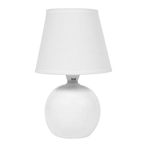 LUM&CO Lámpara en Forma de Bola E14, Blanca, 14 x 21 cm