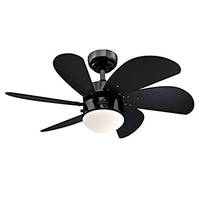 Westinghouse Lighting 78158 Turbo Swirl One-Light 76 cm Ventilatore a soffitto per Interni a Sei Pale,