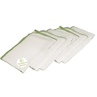 (Pack of 6) Pure & Gentle Muslin Face Cloths by WithNature Skincare