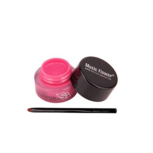 12shage Eingefärbter langlebiger Lipgloss Mini Luftkissen Lippenpinsel