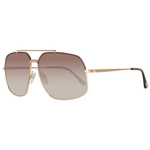 Tom Ford Damen Sonnenbrille FT0439 6048F, goldfarbend, 60