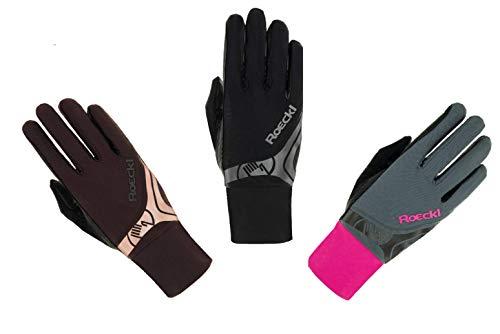 Roeckl Sports Roeck Melbourne Handschuh, Unisex, Reithandschuhe, Touchscreen, Grau 7