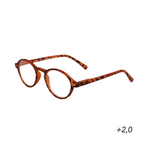 BUTLERS GOOD LOOKING Lesebrille + 2,0 Dioptrien - Stylische Lesehilfe in Schwarz - Unisex Brille zum Lesen aus Kunststoff