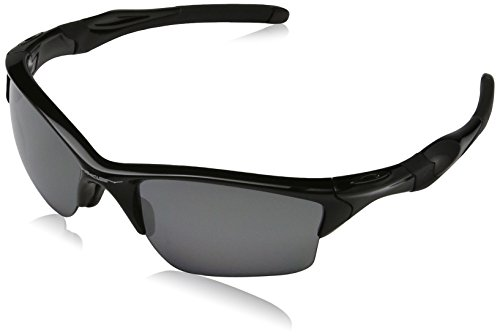 Oakley Herren Half Jacket 2.0 Rechteckig Sonnenbrille, POLISHED BLACK/BLACK IRIDIUM POLARIZED/Black Iridium Polarized (S3)