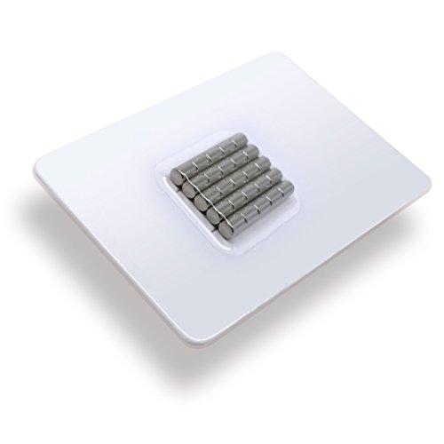 25 x Cylindres magnétiques néodyme   Diamètre Ø 4 mm, Longueur 5 mm   nickelé (NiCuNi)   Force d'adhérence environ: ~ 0.55 kg   extra fort / haute qualité   25 pc. super puissants Aimant Cylindre