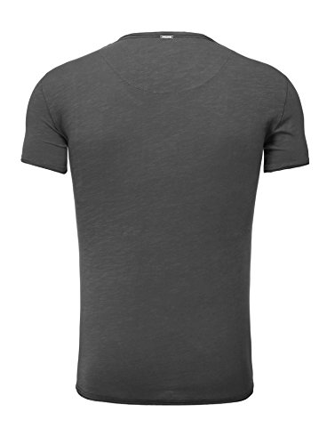 Key Largo Herren T-Shirt WATER Einfarbig Basic Kombinierbar Anthrazit