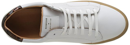 Schmoove Spark Clay, Baskets Basses Homme Blanc (WHITE/TAN)