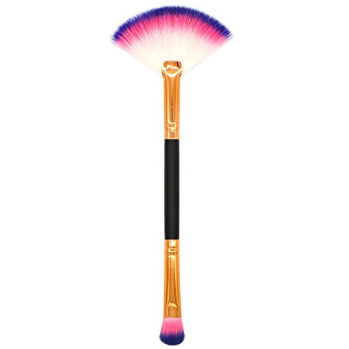 DaySing Brosse Kit De Pinceau Maquillage Professionnel 1Pcs Maquillage Base Sourcil Eyeliner Blush Pinceaux CosméTique Anticernes Pinceau à LèVre avec Sac Nois
